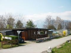 Seeblick-St�ble, Kiosk am Baggersee